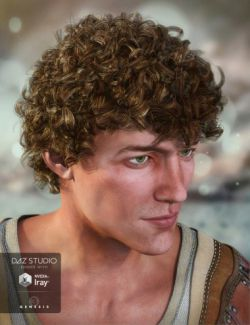 Jonas Hair for Genesis 3 Male(s)