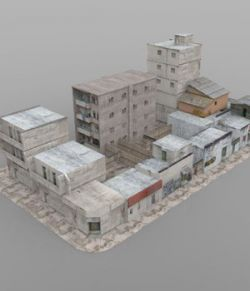 Shanty Town Buildings 2: City Block A (for Poser)