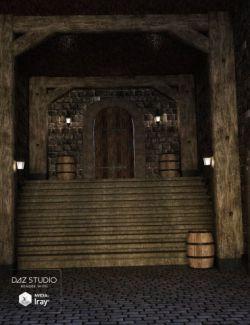 Medieval Inn Corridor