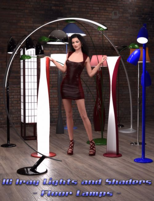 IG Iray Lights and Shaders - Floor Lamps