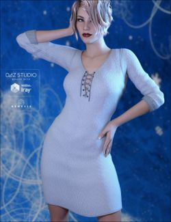 Wicked Knit Dress for Genesis 3 Female(s)