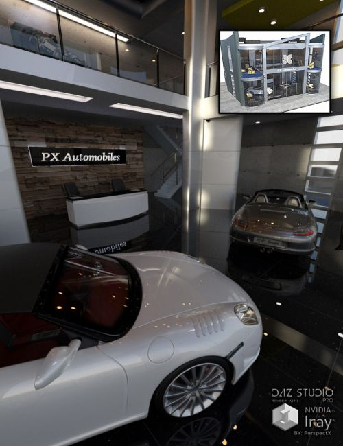 PX Auto Showroom Set