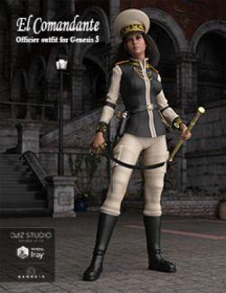 El Comandante, Officer Outfit for Genesis 3 Female(s)