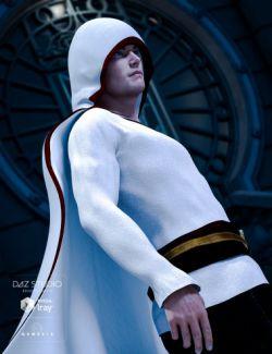 Hooded Cloak for Genesis 3 Males