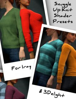 Snuggle Up Knits for Iray and 3Delight- Shader Presets