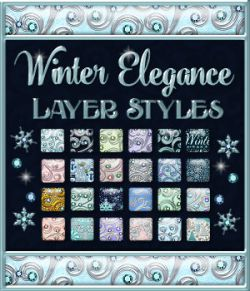 Winter Elegance Layer Styles with Bonus
