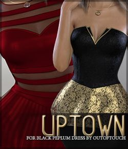 Uptown for Black Peplum Dress