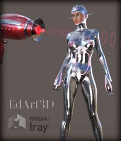 Pin-Up Gynoid Phase1 Morphing Raygun & Poses