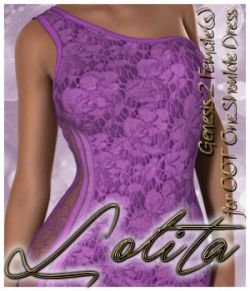 Lolita One Shoulder Dress G2F