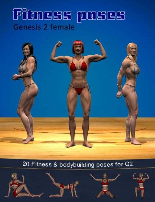 Fitness & bodybuilding poses for G2 female