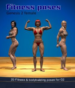 Fitness & bodybuilding poses for G2 female
