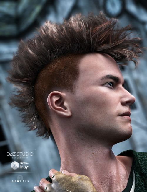 Gothic MoHawk Hair for Genesis 3 Male(s)