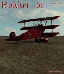 Fokker Dr Poser prop