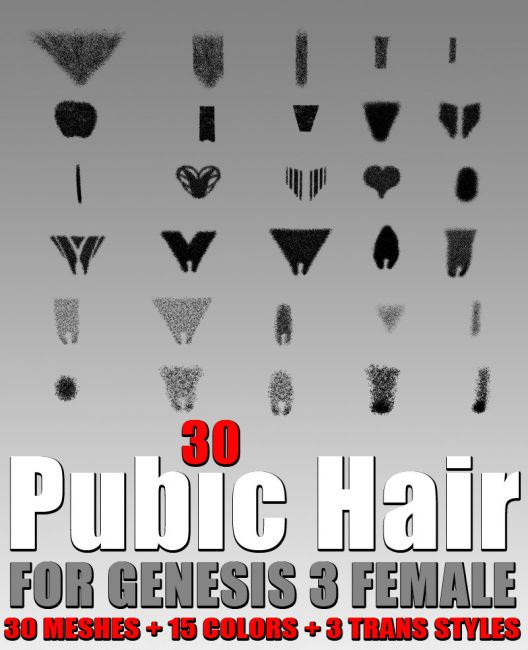 30 Pubic Hair For G3 Female S Hair For Poser And Daz Studio