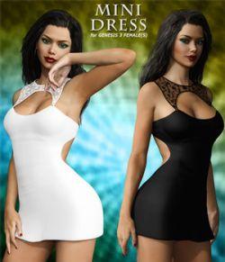 Mini Dress For Genesis 3 Female(s)