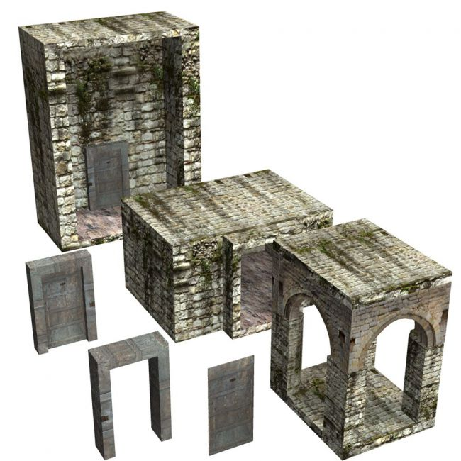 Abbey In Ruins: Construction Kit (for Poser)