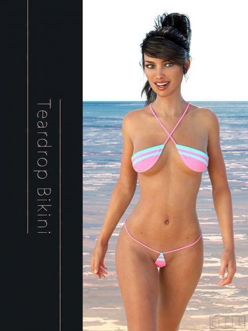 Teardrop Bikini For G3F
