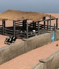 Shanty Town Buildings 2: Farm (for Poser)