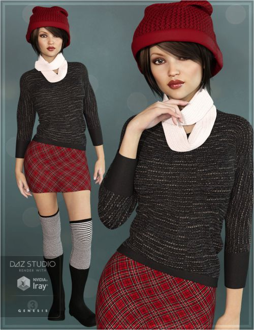 Winter Warmers Outfit for Genesis 3 Female(s)
