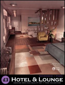 i13 Hotel and Lounge Environment with Poses