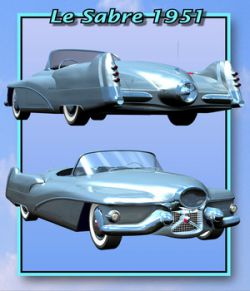 BUICK LE SABRE 1951 ( Poser and .OBJ )