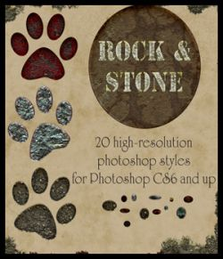 Rock and Stone Photoshop Styles