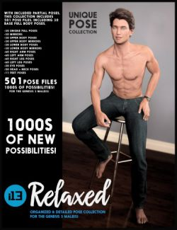 i13 Relaxed Pose Collection for the Genesis 3 Male(s)