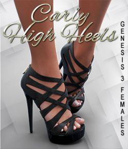 Carly High Heels for Genesis 3 Female(s)