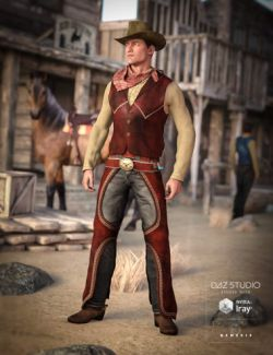 Cowboy Outfit for Genesis 3 Male(s)