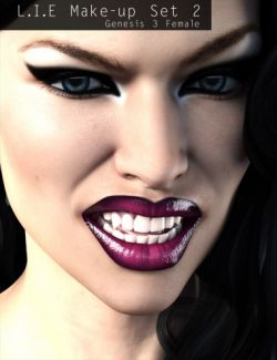 L.I.E Make-up Set 2 for Genesis 3 Female(s)