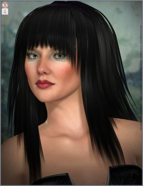 carling hair v4 a4 g4 hair for poser and daz studio. Black Bedroom Furniture Sets. Home Design Ideas