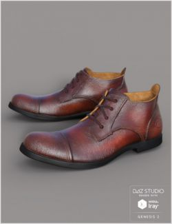 Leather Shoes For Genesis 2 Male(s)