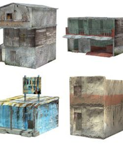 Shanty Town Buildings 2: Set 3 (for Poser)