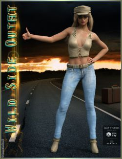 Wild Side Outfit And Accessories for Genesis 3 Female(s)