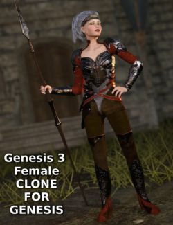 Genesis 3 Female Clone for Genesis