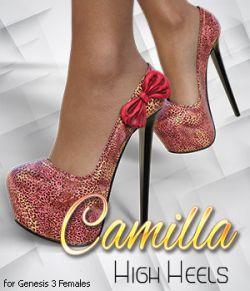 Camilla High Heels for Genesis 3 Female(s)