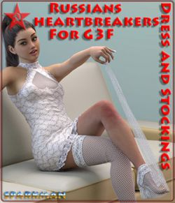 Russians heartbreakers: StValentines Day - Dress and Stockings for G3F