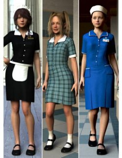 Uniform Dress for Genesis 2 Female(s)