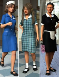 Uniform Dress for Genesis 3 Female(s)