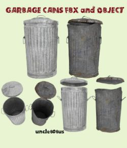 Garbage Cans fbx and Object