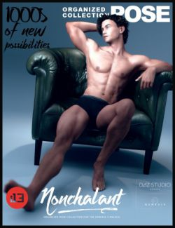 i13 Nonchalant Pose Collection for the Genesis 3 Male(s)