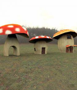 Cartoon World: Toadstool Buildings (for Poser)