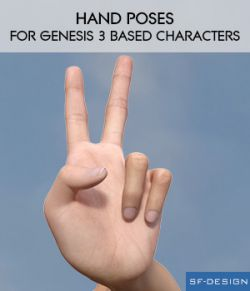 Hand Poses for Genesis 3 Male and Female Characters