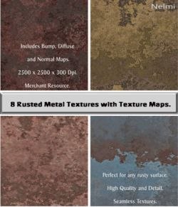 8 Seamless Rusty Metal Textures with Texture Maps- Merchant Resource