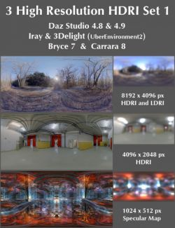 3 High Resolution HDRI Set 1