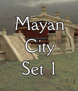 Mayan City: Set 1 (for Poser)