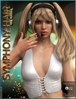 Symphony Hair and Headset for Genesis 3 Female(s)