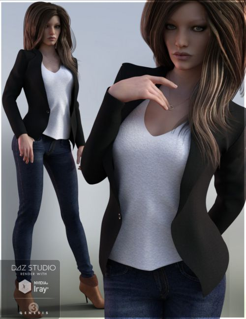 Blazer Outfit for Genesis 3 Female(s)