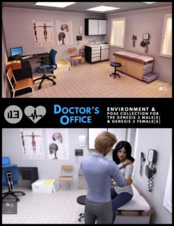 i13 Doctor's Office Environment with Poses
