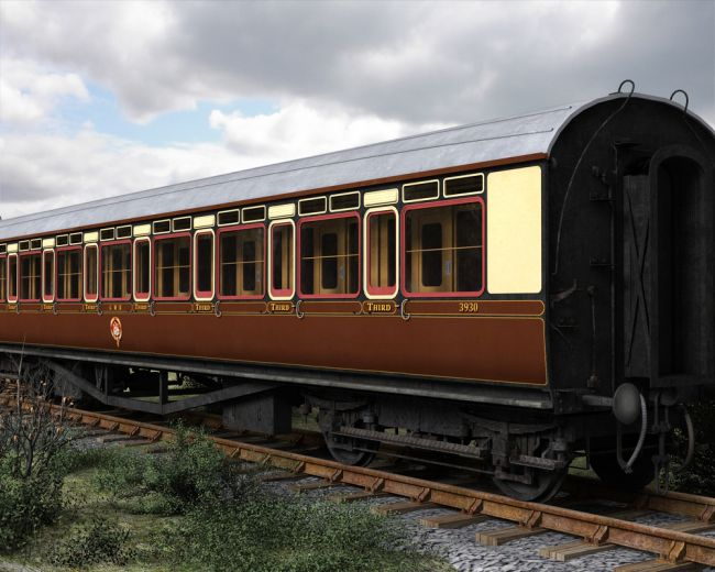 Gwr Toplight Passenger Coach Transportation For Poser